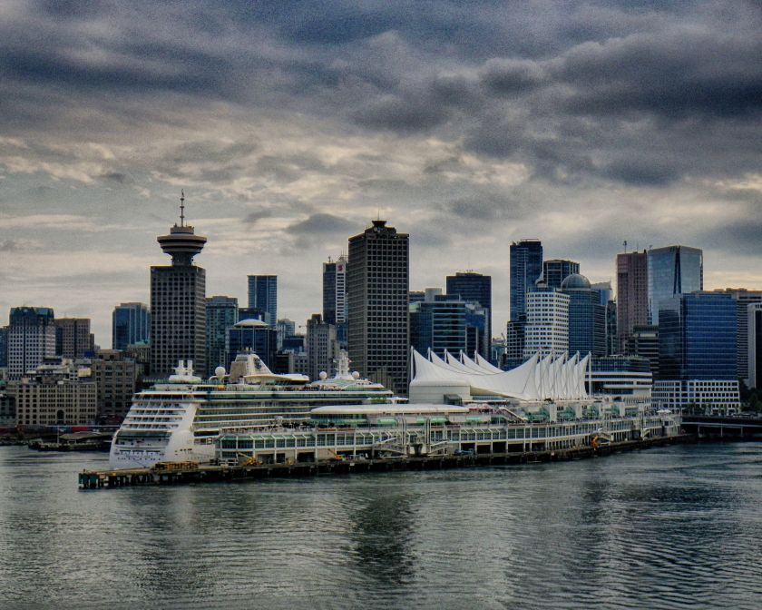 Canada Place Grad ND Ektachrome 64 HDR Hyperrealistic