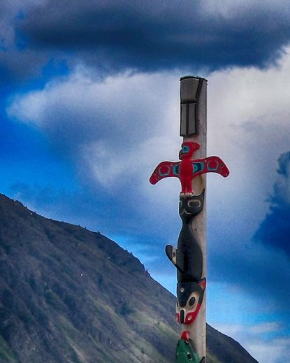 Carcross Totem Detail Deep 1