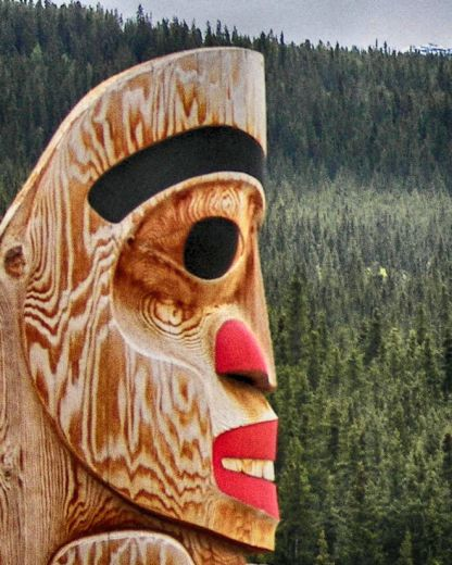 Carcross Totem Detail HDR Deep 2