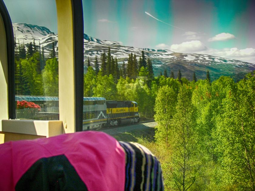 Alaska RR engine from dome car 2 HDR Deep 1