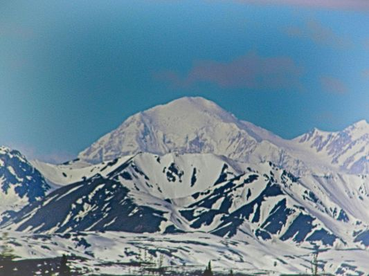 Denali From Train HDR Efx Pro Realistic