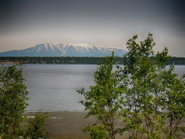 Mount Susitna from Resolution Park HDR Outdoor 2