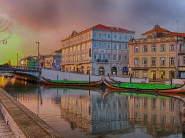 Aveiro Canal Sunset