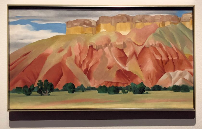 georgia o'keeffe- my backyard- 1937