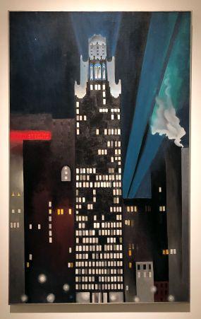 Georgia O'Keeffe- Radiator Building, Night, New York- 1927