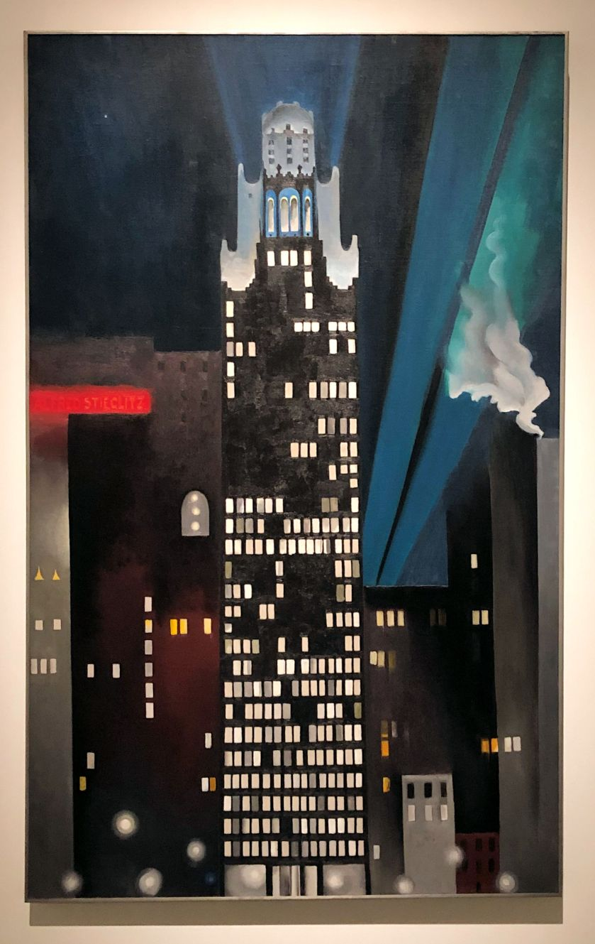georgia o'keeffe- radiator building, night, new york- 1927
