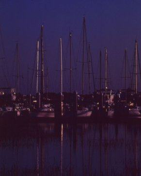 Tybee Island Boats Fuji Velvia From Slide